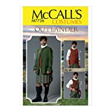 McCall's Patterns Men's Outlander Cosplay Halloween Costume Sewing Pattern, 3pcs, Sizes 46-52