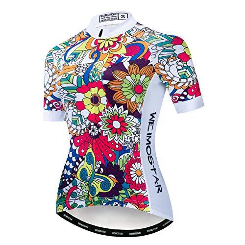 Maillot de ciclismo de manga corta de verano para mujer, ropa de...