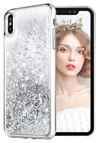 Funda IPhone Xs Max glitter plateado