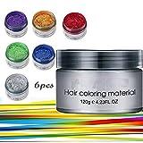 Symeas 6 Farben Unisex Multi-Color Temporäre Modellierung Mode DIY Haarfarbe Wachs Schlamm...