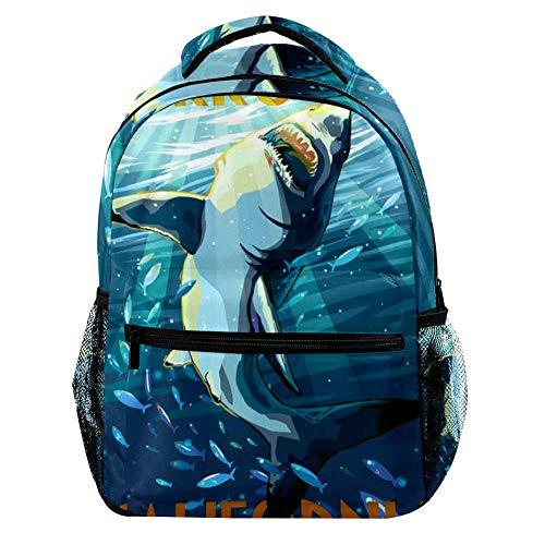 TIZORAX Roar Colorato Dinosauri Zaino Scuola College Bag Bookbag Escursionismo Viaggio Zaino per Donna Uomo Motivo 2 29.4x20x40cm/11.5x8x16 in