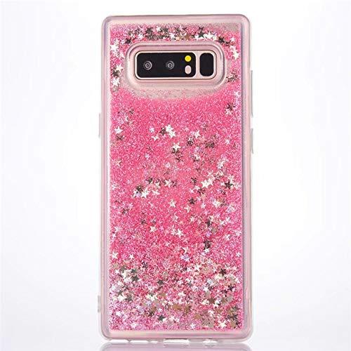 KKAAVV Funda Liquid Glitter Quicksand para Huawei P30 P20 Mate 30 20 10 Lite Pro Honor V10V20 8X Nova 6 5 5i 6E Funda Dynamic Liquid Cover, Estrellas Rosadas, para Honor 9 Lite