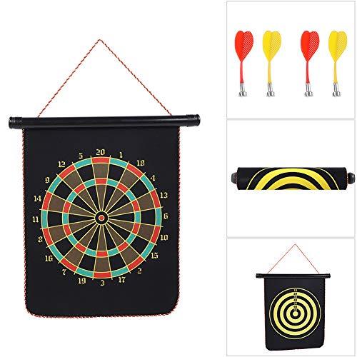 Alomejor Magnetic Dart Board Safety Dart Set Kids Dart Board Set with Reversible Design for Family Leisure Sports