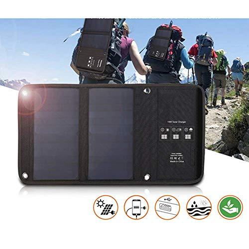WNTHBJ Folding 14W zonnepaneel vouwtas, externe energieopbrengst tafel, hoogwaardige fotovoltaïsche module, familie reizen (PC 1)