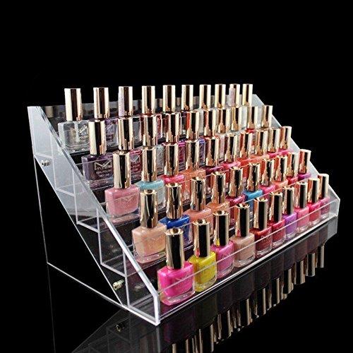 GOTOTOP Nagellack Tisch Rack, Acryl klar Make-up Display Ständer Rack Organizer Halter (5 Etagen)