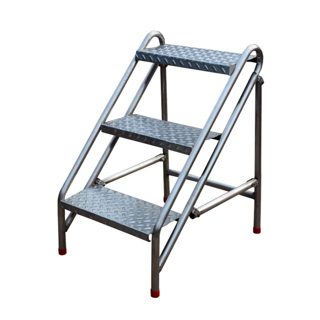Portátil Plegable 3 Pasos Taburete de Escalera Multifuncional Casa Escalera Puesto de Flores Estante de Almacenamiento Acero para Trabajo Pesado, Capacidad de 100 kg: Amazon.es: Hogar
