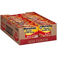 Maruchan Ramen Beef, 3 Ounce, Pack of 24