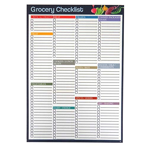 A5 Grocery/Food Shopping Organiser Notepad – Double Sided - 50 Sheets Per Pad - Size 210mm x 148mm