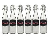 hocz 6/10 Set Bügelflaschen Bügelflasche Glasflaschen   Füllmenge 500ml   Tafel-Etiketten...
