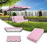 ZHANGXJ Swing Chair Canopy Replacement, Swing Seat Cushions Covers and Hammock Cover Top for Outdoor Patio 3 Seater Blue Waterproof Anti-UV (Color : Pink, Size : 164cm X 114cm X 15cm)