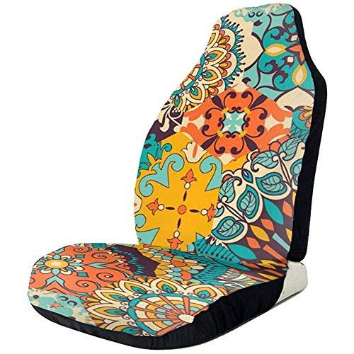 Alice Eva Fahrzeugsitz-Schutz-Auto Mat Covers, nahtlose bunte Patchwork-Fliese mit den islamischen, arabischen, indischen, osmanischen Motiven