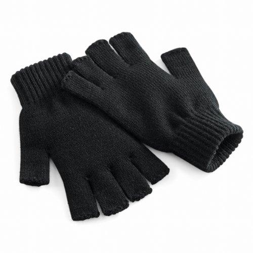 Beechfield Unisex Uni Basic fingerlose Winterhandschuhe, Klein / Mittel (S/M), schwarz