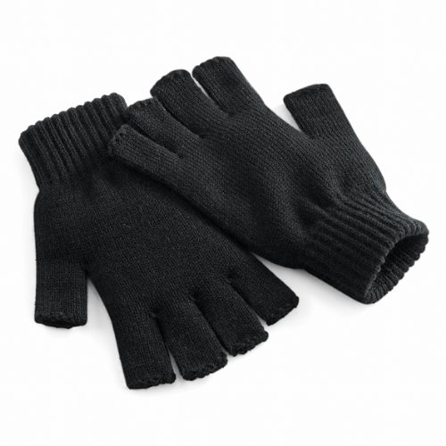 Beechfield Unisex Uni Basic fingerlose Winterhandschuhe, Farbe schwarz, Size L/XL