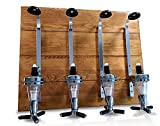 Corkside Bar Optics for Home bar Accessories for Home Pub - Wall Mounted Wooden Plaque 4 Bottle Optics for Spirits - Home bar Unit & Alcohol Gift Set - Man cave Accessories - Pub Accessories Home bar