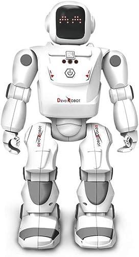 ZDY Robot Enfant Jouets éducatifs,avec électroniques Télécomhommedé Lumières Musique Danse Gesture Sensing Apprendre Marcher Programmation éducatif Charge USB -Blanc,blanc