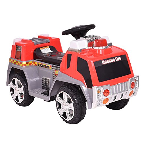 Costzon Kids Ride On Fire Truck 6V...