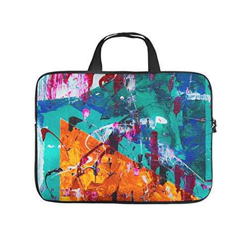 Oil Graffiti on Canvas Texture Laptop Bag Anti-Static Protective Case for Laptops Design Notebook Bag for University Work Business