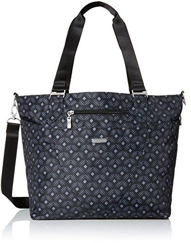 Baggallini Avenue Tote, Black Diamond Print