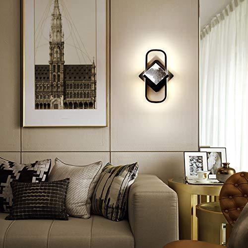 YDZM Wandleuchte Moderne Led Wandleuchte Schlafzimmer Nachttischlampe Geometrische Aluminium Wandleuchte Nordische Luxus Wohnzimmer Treppenwandlampe Innenbeleuchtung