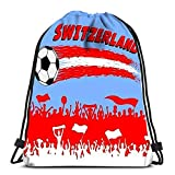 Kkyoxdiy Drawstring Backpack Bags Stock Photography Swiss Flag on Metal Shiny Shield Collection of Flags...