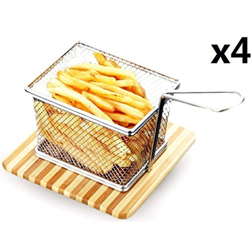 Frittierkorb Friteusenkorb Frittierkörben Edelstahl Mini Chip Serving Baskets Fryer Speisenpräsentation Korb