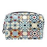 Bolsa de cosméticos Bolsa de Maquillaje para Mujer para Viajar Llevar cosméticos Cambiar Llaves, etc.,Marruecos Colorido