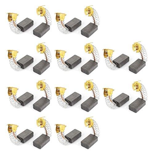 sourcingmap® 20 piezas Escobillas de carbón del motor herramienta eléctrica de 16...