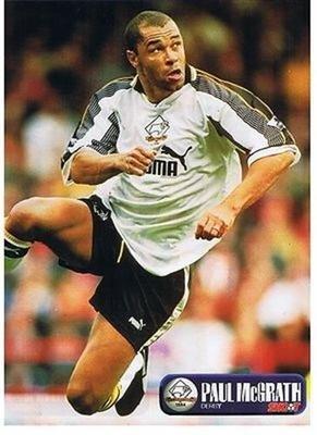 SHOOT Derby County PAUL MCGRATH Puma home kit football magazine pictu