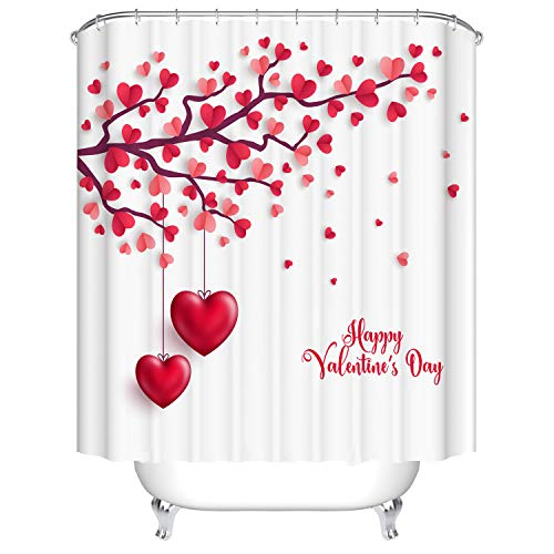 Doduo Red Love Heart Tree Bathroom Decor Valentine's Day...