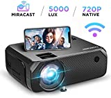 Mini Projector Portable, BOMAKER WiFi Full HD Movie Projector LCD LED Home & Outdoor Projector Compatible with TV Stick,HDMI,VGA,USB, Smartphone,PC,Xbox, Upgraded 5000 Lux
