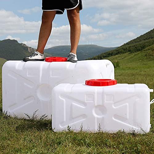 WWJQ Depósito de Agua del Tanque de Emergencia, Tanque de Agua del Coche de Gran Capacidad, Recipiente De Agua de Plástico para Hogar con Tapa y Válvula, Barril De Vino