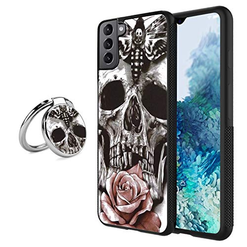 2021 Newly Case for Samsung Galaxy S21 Plus with Kickstand Anti-Collision Suitable for Samsung Galaxy S21 Plus Ultra-Thin Soft Back Case Compatible for Samsung Galaxy S21 Plus-Skull