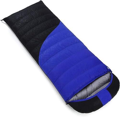 ZWYY Durable,Breathable,comfortableSac de Couchage, Adultes Sacs de Sommeil Confort imperméable à l'eau avec Sac de Compression enveloppe de Sommeil Portable léger,bleu,1800g