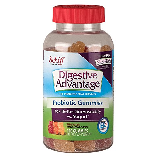 Schiff Digestive Advantage Probiotic Gummies, 120 Count, Pack of 2