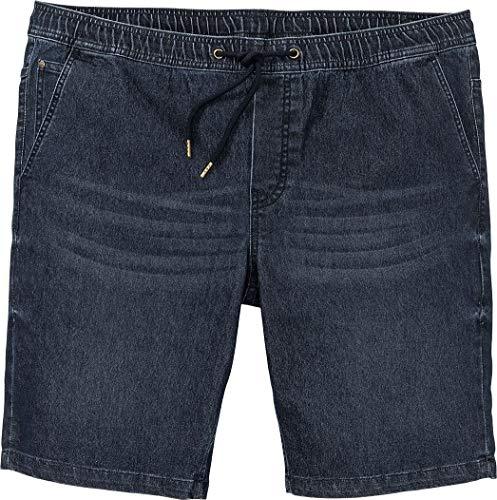 Livergy® Herren Jeans Shorts Bermudas mit Bindeband, Sweat-Denim +++ Plus Size +++ (dunkelblau, Gr. 64)