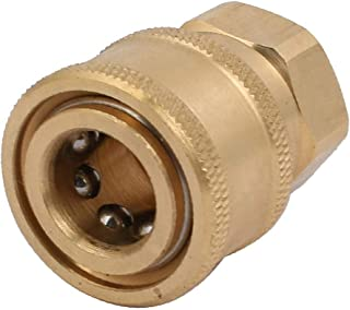 X-Dr M14 Female Thread Full Flow Quick Connect Washer Spray Nozzle Gold Tone (79b48cf3-a222-11e9-8d7c-4cedfbbbda4e)