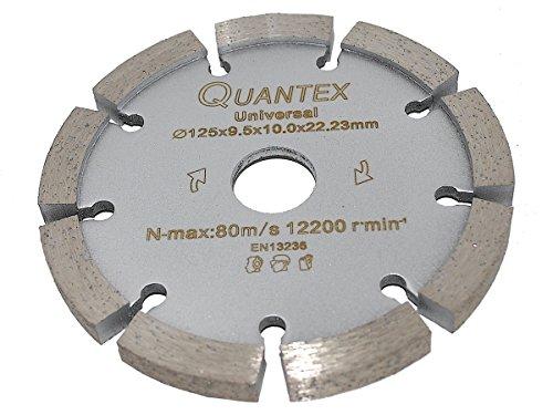 Diamant Frässcheibe Ø 125 mm Segmentstärke 9,5 mm, Fugenfräser für Mauerwerk und Putz