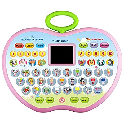 CITOY Toys for 3 Year Olds Boys, Toddler Learning Toy for 1-4 Year Old Girl Boy Baby Educational Computer Toy for 12-24 Months Baby Girls Tablet Toy Gift for 2-5 Girl Kids Birthday Gift Age 2 3 4 from CITOY