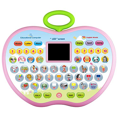 CITOY Toys for 3 Year Olds Boys, Toddler Learning Toy for 1-4 Year Old Girl Boy Baby Educational Computer Toy for 12-24 Months Baby Girls Tablet Toy Gift for 2-5 Girl Kids Birthday Gift Age 2 3 4