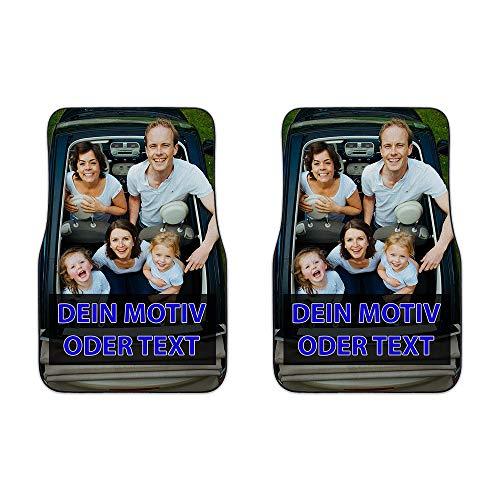 Universale Auto-Fußmatte zum selbst Gestalten mit eigenem Foto bedrucken lassen/Autoteppich / 2er Set - Vorn