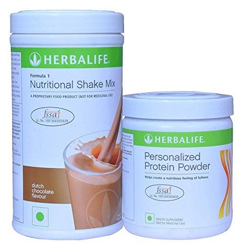 Herbalife Formula 1 Chocolate Shake 3 Protein Powder (500 g)+Protein Powder 200g