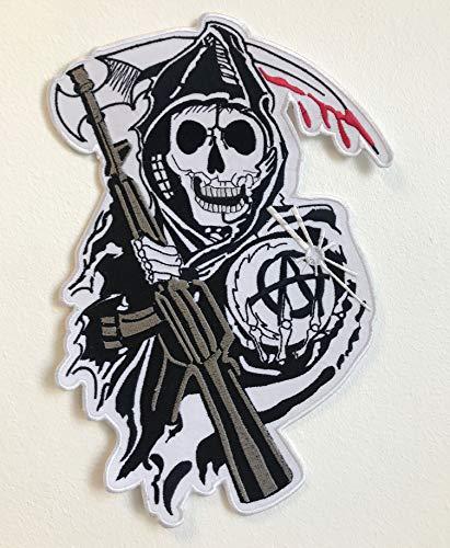 Aufnäher Sons of Anarchy Bikerjacke, bestickt, groß