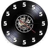 yltian Reloj de Pared con Disco de Vinilo Five O'Clock es un Reloj de Pared anticuado con un diseño de Cerveza para Parejas con 5