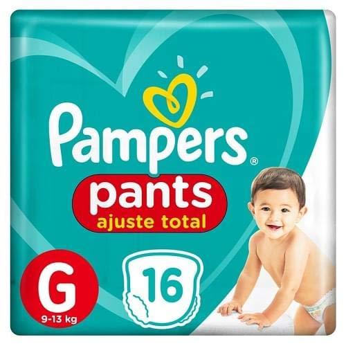 Fralda Infantil Pampers Pants Ajuste Total, com 16 Fraldas Descartáveis, Tamanho G, PAMPERS PANTS