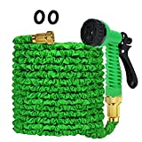 Greenbest Expandable Garden hose leakproof Farm water hose car wash hose with 3/4' Solid Brass...