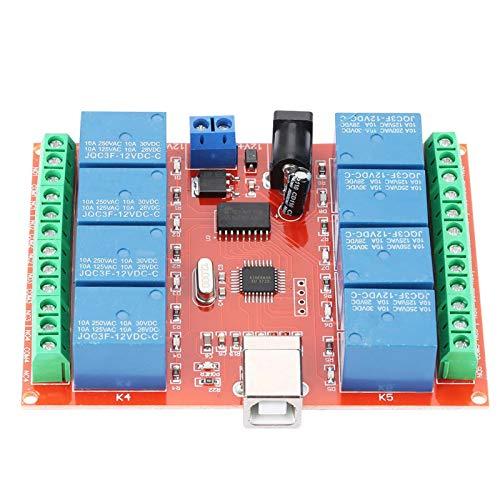 Controlador USB de computadora de 12 V y 8 canales, módulo de relé de interruptor, controlador inteligente de PC, para el hogar, hotel, aparato eléctrico, invernaderos, mercado, empresa, fábrica (112