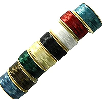 Nymo? Nylon Seed Bead Thread Size B (8 Bobins 144 Yards Each) 0.008 Inch 0.203mm Mixed Colors