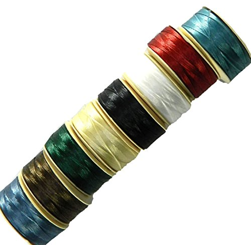 Nymo Nylon Seed Bead Thread Size B (8 Bobins 144 Yards Each) 0.008 Inch 0.203mm Spool 390 Yards Mixed Colors