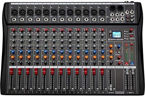 8-Kanal-Sound-Mixer-Karte Bluetooth-Audio-Mixer mit USB-Schnittstelle Professioneller DJ Mischpult Controller Phantom Power Effect