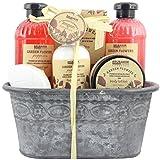 BRUBAKER Cosmetics - Coffret de bain & douche - Fleur de coquelicot - 7 Pièces - Bassine vintage...